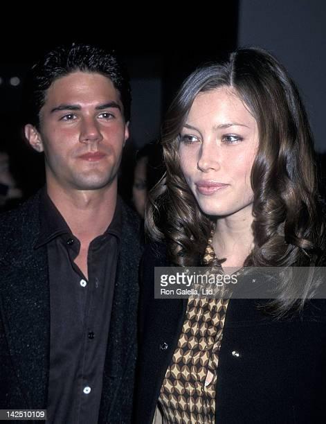 Actor Adam LaVorgna and actress Jessica Biel attend the WB Winter TCA Press Tour After Party on January 6 2001 at the Il Fornaio Restaurant in...