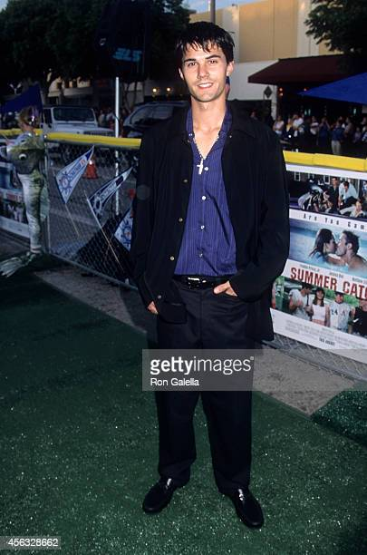 Actor Adam LaVorgna attends the 'Summer Catch' Westwood Premiere on August 22 2001 at the Mann Village Theatre in Westwood California