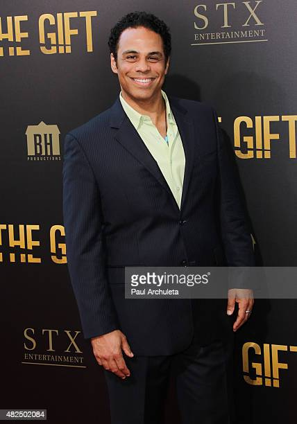 Actor Adam Lazarre White attends the premiere of 'The Gift' at Regal Cinemas LA Live on July 30 2015 in Los Angeles California