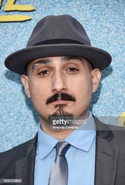 Actor Adam Mendoza arrives at the premiere of FX's 'Snowfall' Season 2 at the Regal Cinemas LA LIVE Stadium 14 on July 16 2018 in Los Angeles...