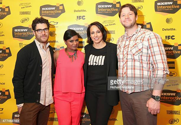 "Actor Adam Pally, actress/comedian Mindy Kaling, Anne Fulenwider, Editor in Chief of Marie Claire and actor Adam Pally attend ""Running the Show: TV's..."