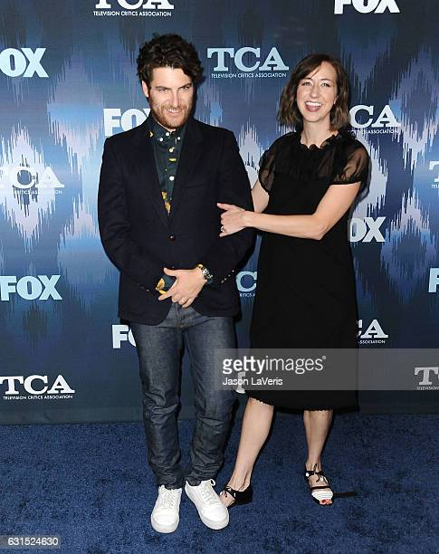 Actor Adam Pally and actress Kristen Schaal attend the 2017 FOX AllStar Party at Langham Hotel on January 11 2017 in Pasadena California
