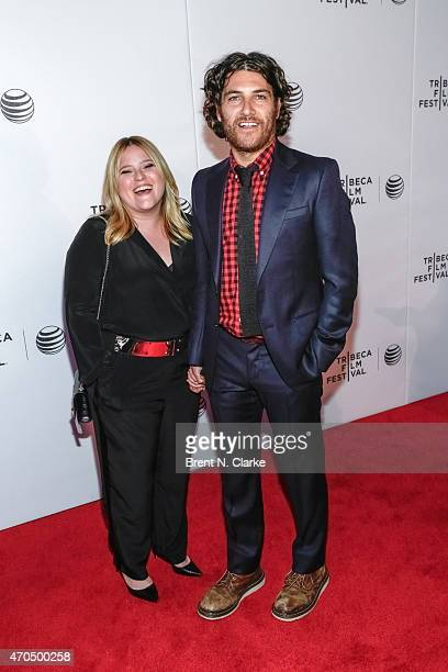 Actor Adam Pally and wife Daniella Liben arrive for the World Premiere Narrative Slow Learners during the 2015 Tribeca Film Festival held at Regal...
