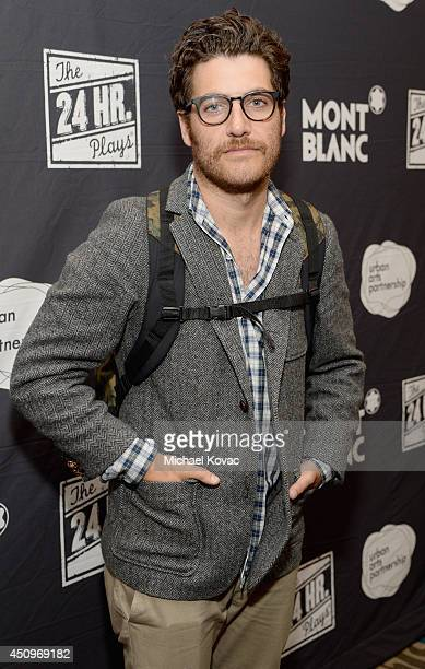 Actor Adam Pally attends Montblanc and Urban Arts Partnership's 24 Hour Plays in Los Angeles at The Shore Hotel on June 20, 2014 in Santa Monica,...