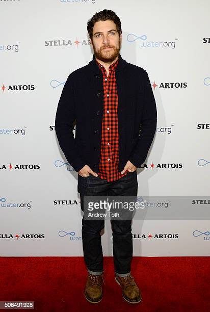 "Actor Adam Pally attends Stella Artois Filmmaker Lounge presents ""Joshy"" supper on January 23, 2016 in Park City, Utah."