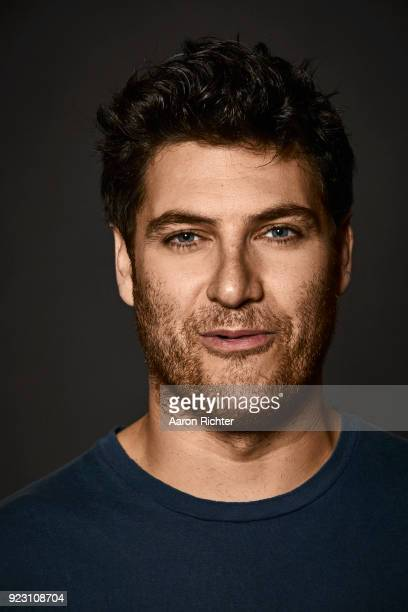 Actor Adam Pally is photographed for New York Times on January 12, 2018 at Tony Kiser Theater in New York City.