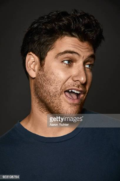 Actor Adam Pally is photographed for New York Times on January 12 2018 at Tony Kiser Theater in New York City