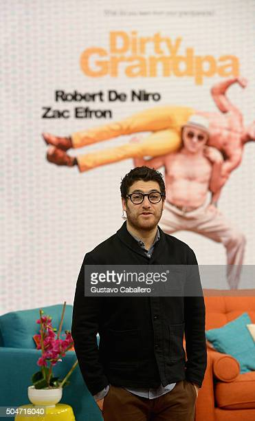 Actor Adam Pally visit 'Despierta America' morning show at Univision Headquarters on the set of Univisions Despierta America to promote 'Dirty...