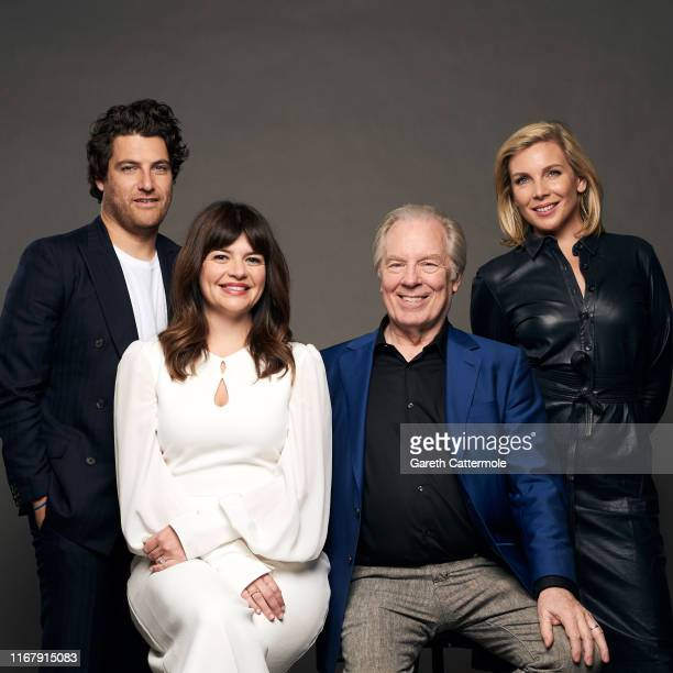 Actor Adam Pally writer/director/actor Casey Wilson and actors Michael McKean and June Diane Raphael from the film 'Daddio' poses for a portrait...