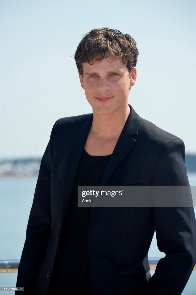 Actor Adam Palsson posing for a photocall on the occasion of the MipTV, International Television Programme Market, in Cannes (south-eastern France) on .