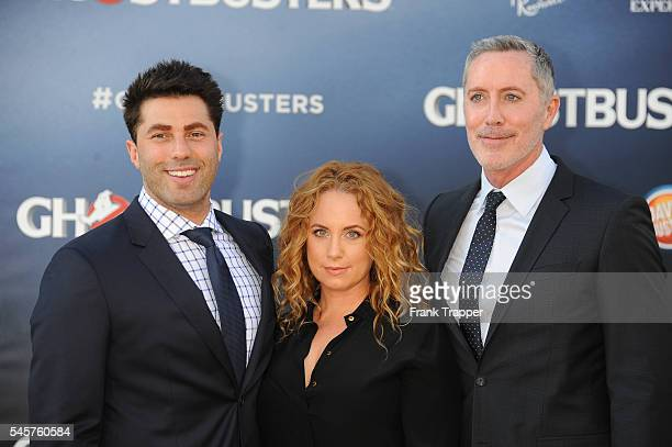 actor Adam Ray actress Jessica Chaffin and actor MIchael McDonald attend the premiere of Sony Pictures' 'Ghostbusters' held at TCL Chinese Theater on...
