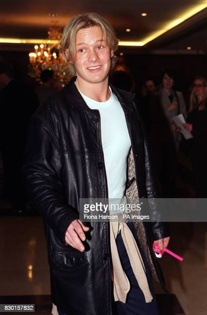 Actor Adam Rickitt from TV soap Coronation Street arriving at London's Royal Lancaster Hotel for the 958 Capital FM 1999 London Awards lunch