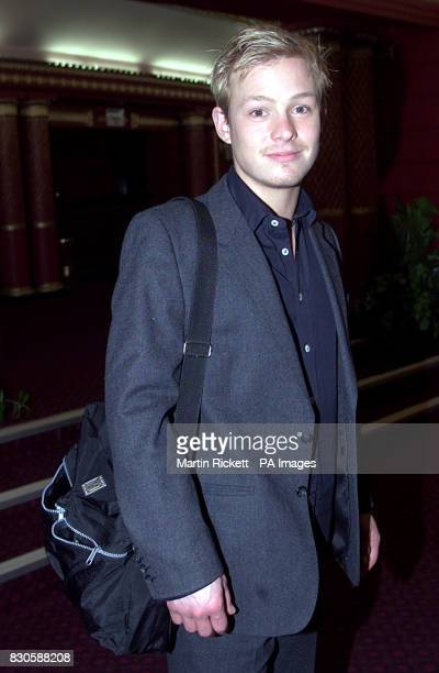 Actor Adam Rickitt who stars in the show at the afterperformance party for the musical 'Rent' at the Palace Theatre in Manchester