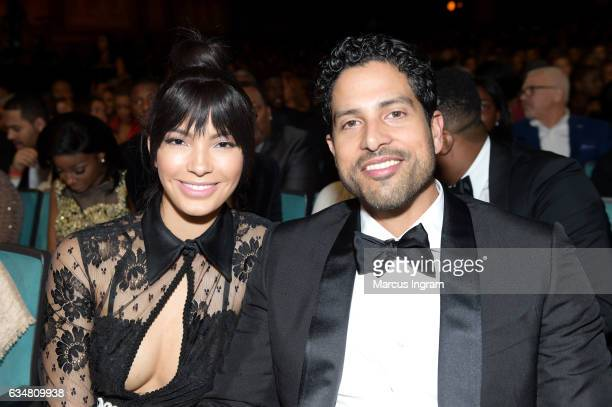 Actor Adam Rodriguez and Grace Gail attend the 48th NAACP Image Awards at Pasadena Civic Auditorium on February 11 2017 in Pasadena California