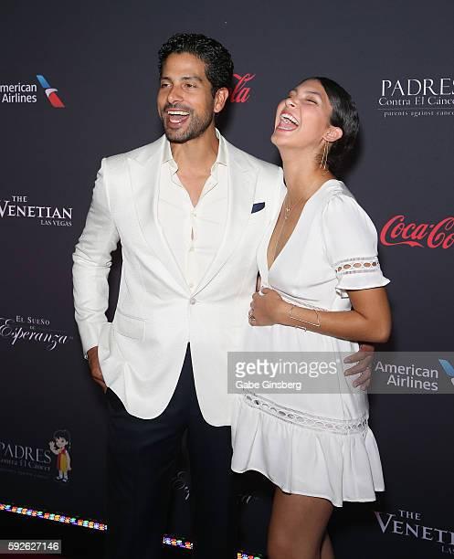 Actor Adam Rodriguez and his wife Grace Gail attend the Padres Contra El Cancer's 16th annual El Sueno de Esperanza celebration at The Venetian Las...