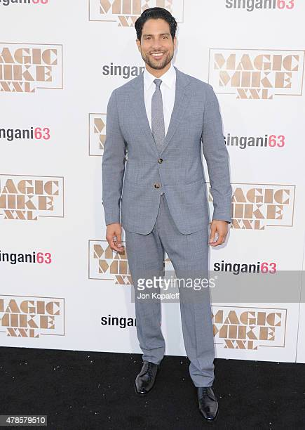 Actor Adam Rodriguez arrives at the Los Angeles Premiere Magic Mike XXL at TCL Chinese Theatre IMAX on June 25 2015 in Hollywood California