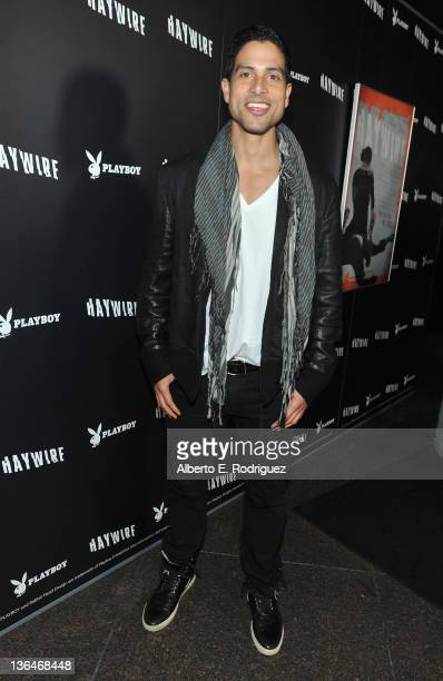 Actor Adam Rodriguez arrives to the premiere of Relativity Media's Haywire at DGA Theater on January 5 2012 in Los Angeles California