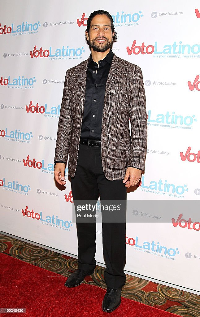Actor Adam Rodriguez poses for photos at Voto Latino's 10th Anniversary Celebration at Hamilton Live on March 4, 2015 in Washington, DC.