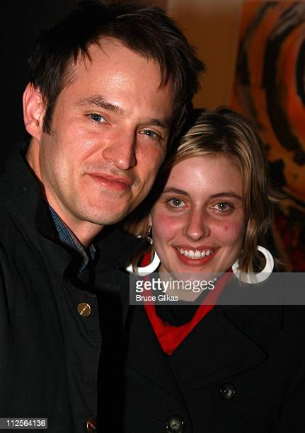 Actor Adam Rothenberg and guest pose at The Homecoming on Broadway's Broadway Cares/Equity Fights AIDS Benefit on November 25 2007 at New World...