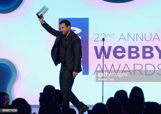 Actor Adam Sandler accepts award onstage at The 22nd Annual Webby Awards at Cipriani Wall Street on May 14 2018 in New York City