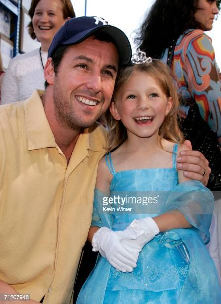Actor Adam Sandler and actress Tatum McCann arrive at Sony Pictures premiere of 'Click' held at the Mann Village Theater on June 14 2006 in Westwood...