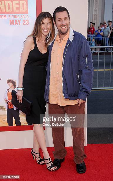 Actor Adam Sandler and Jackie Sandler arrive at the Los Angeles premiere of Blended at TCL Chinese Theatre on May 21 2014 in Hollywood California