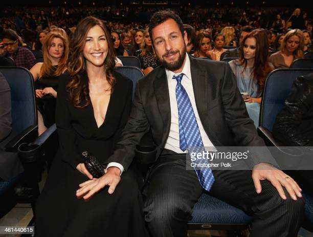 Actor Adam Sandler and Jackie Sandler attend The 40th Annual People's Choice Awards at Nokia Theatre LA Live on January 8 2014 in Los Angeles...