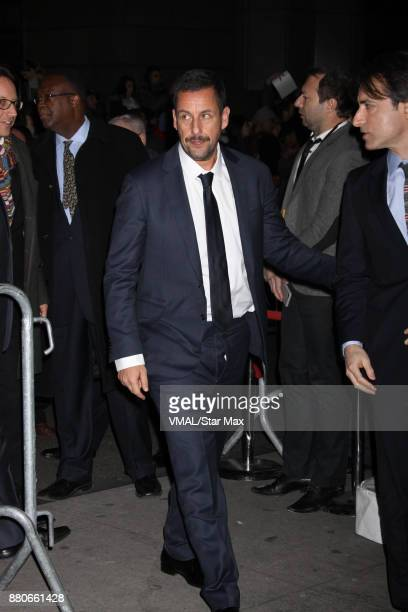 Actor Adam Sandler and Noah Baumbach are seen on November 27 2017 in New York City