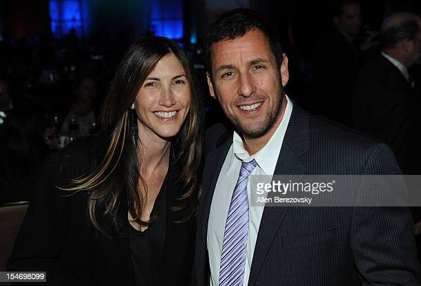 Actor Adam Sandler and wife Jackie Sandler attend the Fulfillment Fund Stars Gala at The Beverly Hilton Hotel on October 24 2012 in Beverly Hills...