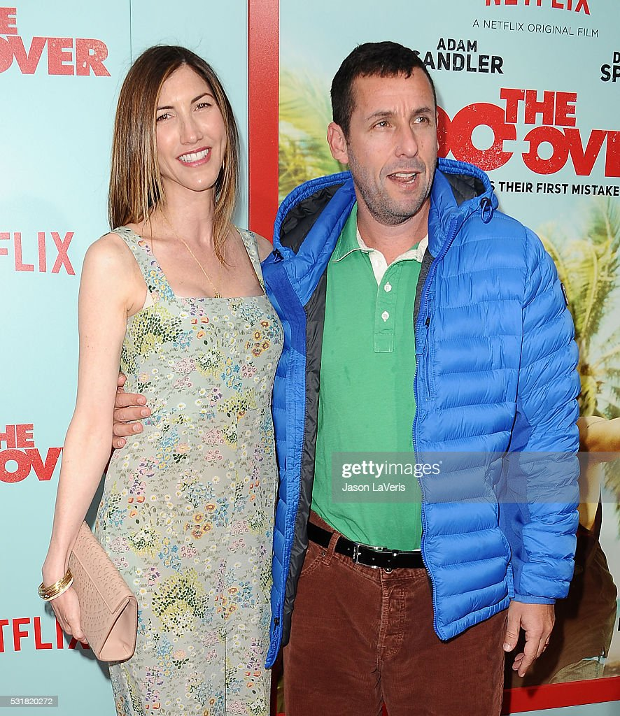 Actor Adam Sandler (R) and wife Jackie Sandler attend the premiere of 'The Do Over' at Regal LA Live Stadium 14 on May 16, 2016 in Los Angeles, California.