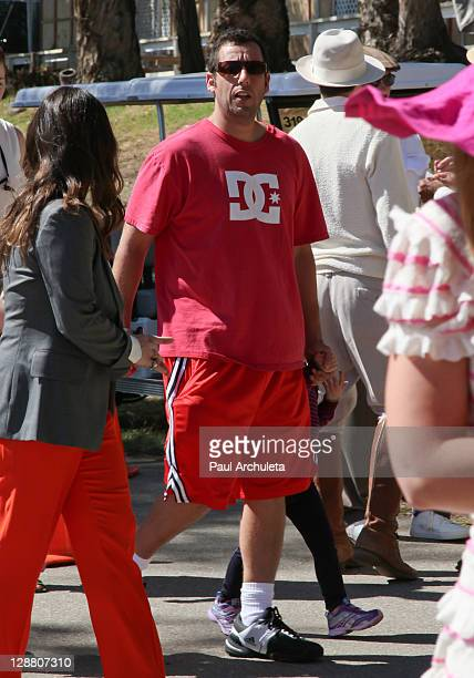 Actor Adam Sandler arrives at the 2nd annual Veuve Clicquot polo classic at Will Rogers State Historic Park on October 9, 2011 in Pacific Palisades,...