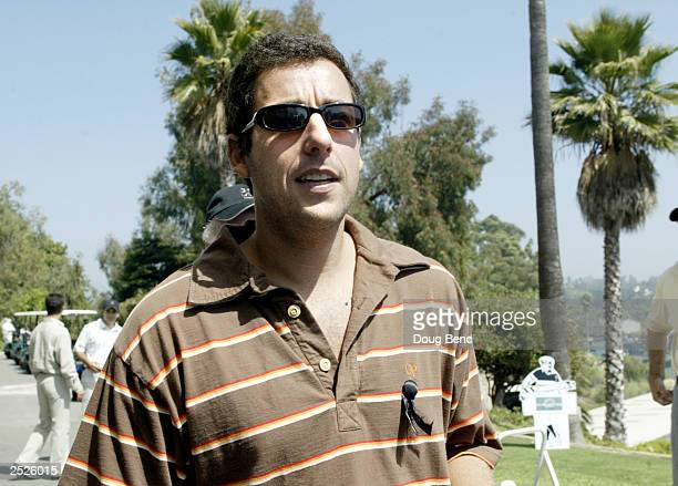 OUT Actor Adam Sandler at the AFI Golf Classic on September 22 2003 at the Riviera Country Club in Pacific Palisades California