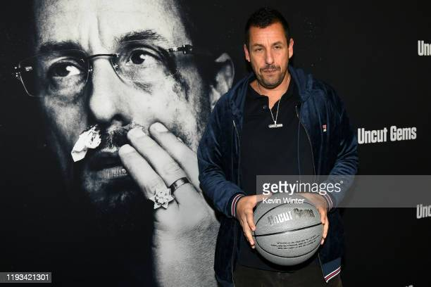 Actor Adam Sandler at the premiere of A24's Uncut Gems at The Dome at Arclight Hollywood on December 11 2019 in Hollywood California