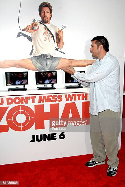 Actor Adam Sandler attends Columbia Pictures' screening of You Don't Mess With The Zohan on June 4 2008 at the Ziegfeld Theater in New York City