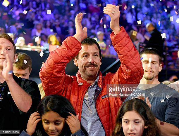 Actor Adam Sandler attends Nickelodeon's 2016 Kids' Choice Awards at The Forum on March 12 2016 in Inglewood California