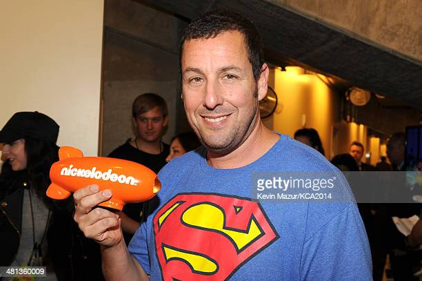 Actor Adam Sandler attends Nickelodeon's 27th Annual Kids' Choice Awards held at USC Galen Center on March 29 2014 in Los Angeles California