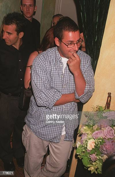 Actor Adam Sandler attends Rodney Dangerfield's wedding at Largo's Restaurant August 28 2000 in Santa Monica CA The Dangerfield's are renewing their...