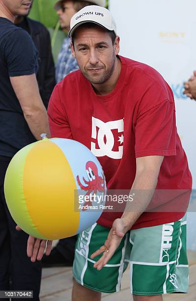 Actor Adam Sandler attends the Beach BBQ for the German Premiere of 'Kindskoepfe' at O2 World on July 30 2010 in Berlin Germany