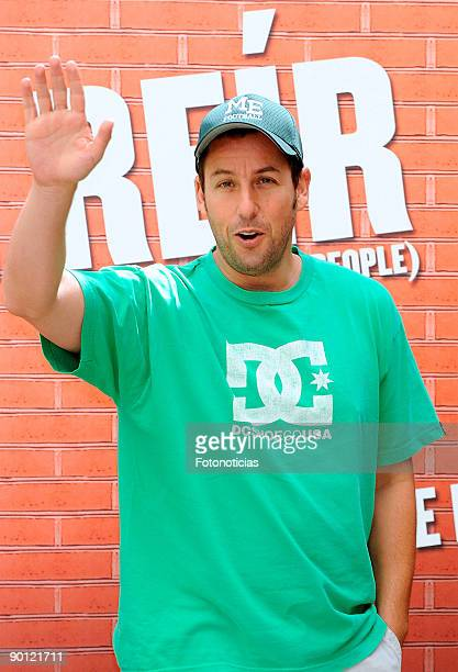 """Actor Adam Sandler attends the """"Funny People"""" photocall at Villa Magna Hotel on August 27, 2009 in Madrid, Spain."""