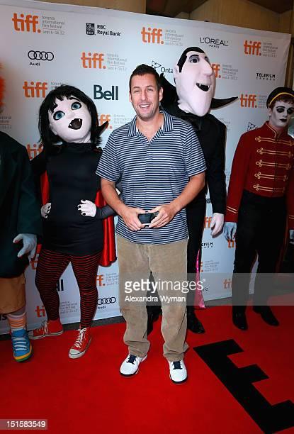 Actor Adam Sandler attends the 'Hotel Transylvania' premiere during the 2012 Toronto International Film Festival on September 8 2012 in Toronto Canada