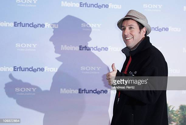 Actor Adam Sandler attends the 'Meine Erfundene Frau' photocall at Hotel Adlon on February 21 2011 in Berlin Germany