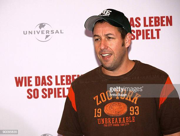 Actor Adam Sandler attends the photo call of 'Funny People' at Hotel Ritz Carlton on August 26 2009 in Berlin Germany