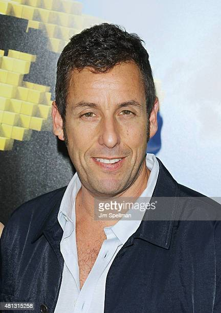 Actor Adam Sandler attends the 'Pixels' New York premiere at Regal EWalk on July 18 2015 in New York City