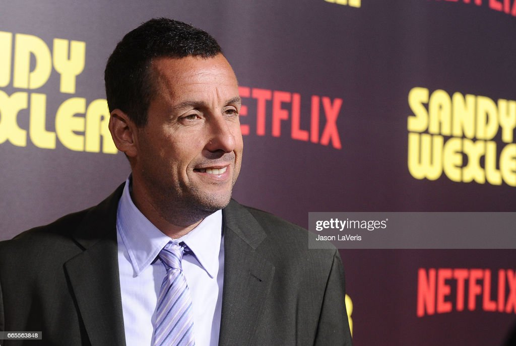 Actor Adam Sandler attends the premiere of 'Sandy Wexler' at ArcLight Cinemas Cinerama Dome on April 6, 2017 in Hollywood, California.