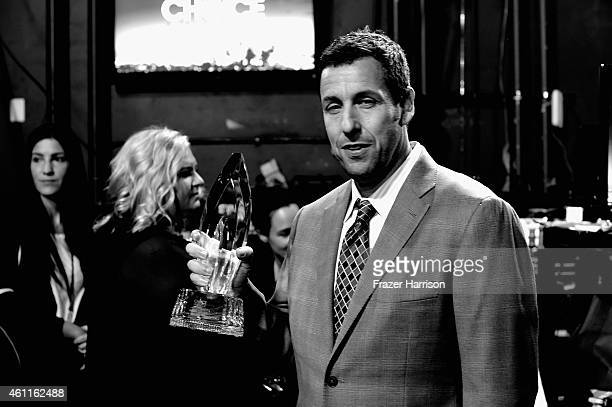 Actor Adam Sandler backstage during The 41st Annual People's Choice Awards at Nokia Theatre LA Live on January 7 2015 in Los Angeles California
