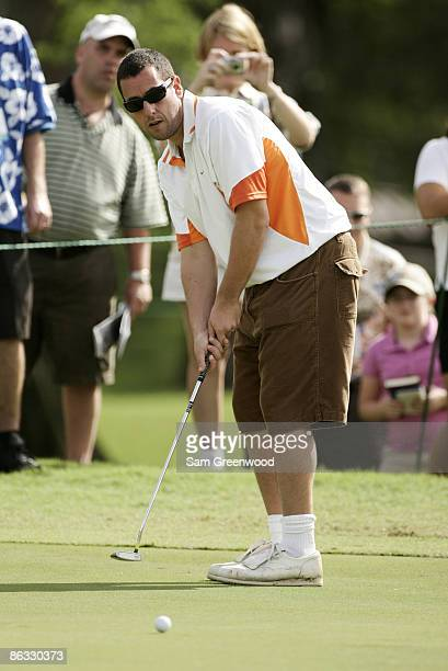 Actor Adam Sandler during the 2007 Sony Open ProAm at Waialae Country Club in Honolulu Hawaii on January 10 2007