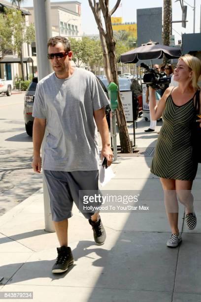 Actor Adam Sandler is seen on September 7 2017 in Los Angeles CA