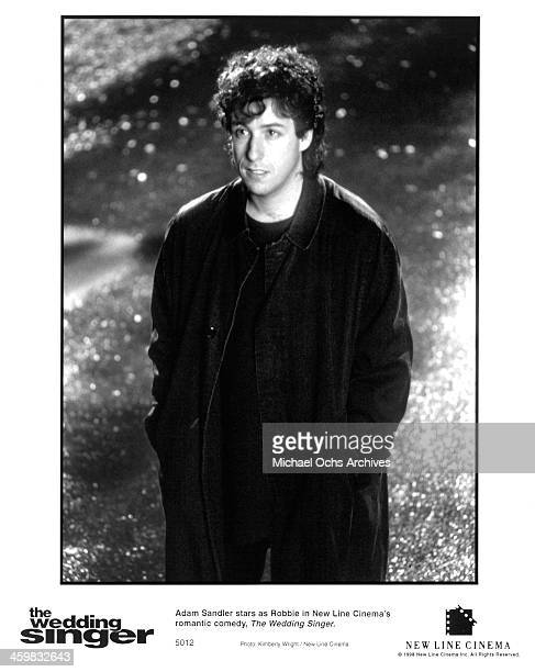 Actor Adam Sandler on set of the movie 'The Wedding Singer' circa 1998