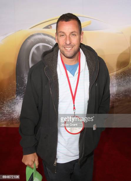 "Actor Adam Sandler poses at the World Premiere of Disney/Pixar's ""Cars 3' at the Anaheim Convention Center on June 10 2017 in Anaheim California"