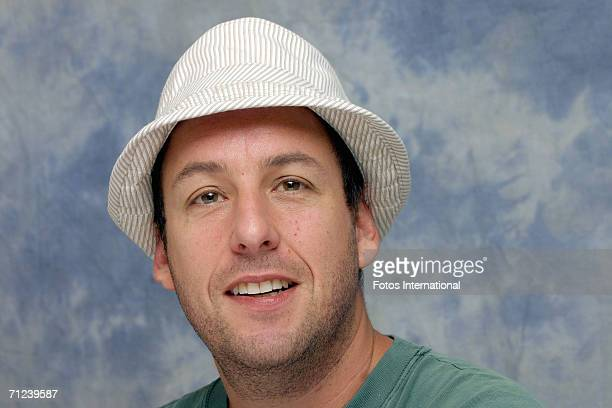 Actor Adam Sandler talks at the Four Seasons Hotel on June 5 2006 in Los Angeles California